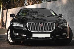 Black Jaguar Sedan